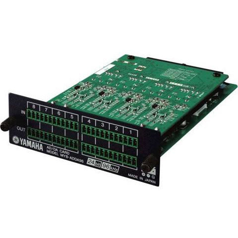 Yamaha MY8-ADDA96 - 8Ch analogue I/O Card - 44.1/48/96kHz, 4 x Euro-block connector