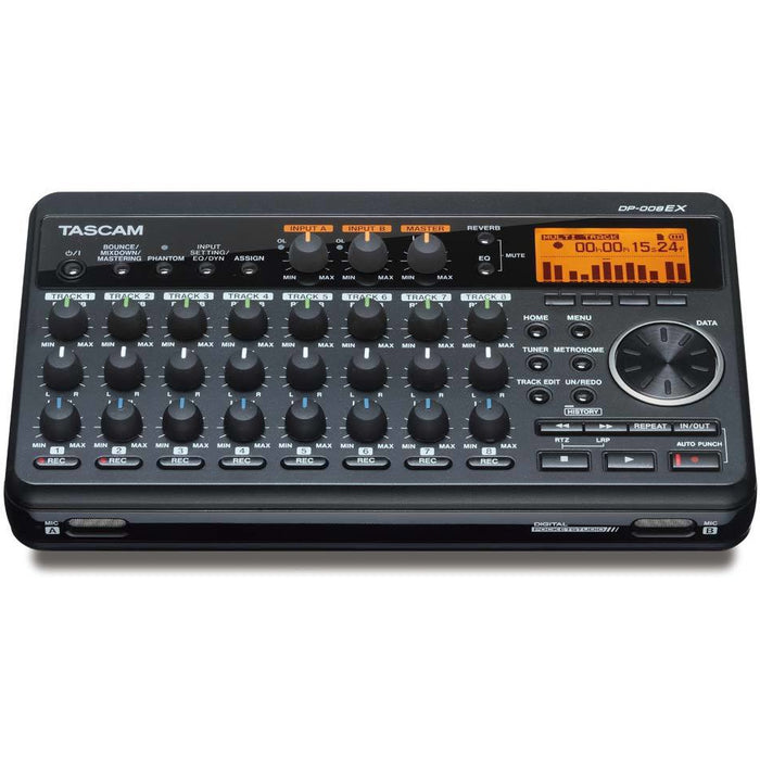 Tascam DP-008ex - 8 Track PocketStudio with Reverb, EQ, PP, 2GB Card