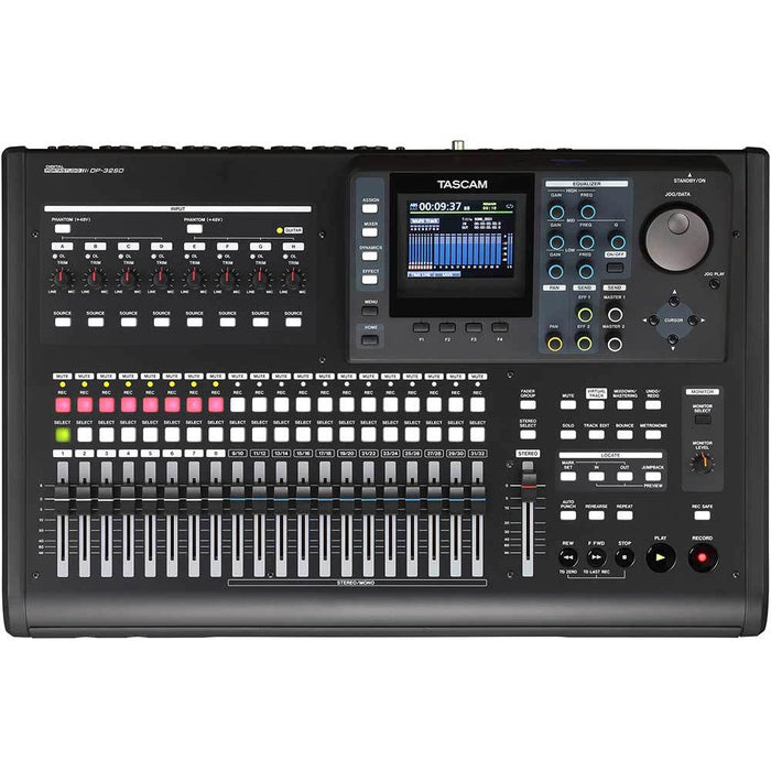 Tascam DP32SD - 32-Track Digital Portastudio without CD Writer Top