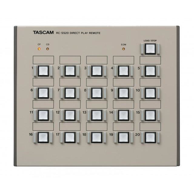 Tascam RC-SS20 - Direct Play Controller for HD-R1 and SS series
