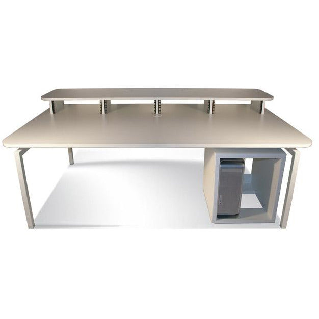 TD Xtra Big Bench - Work Station with Top Racks & 12U Rack. Available in White and Walnut