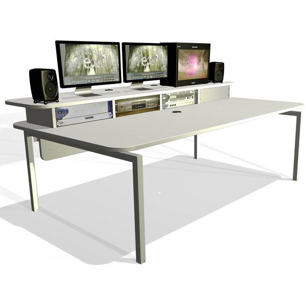 TD Xtra Big Bench - Work Station with Top Racks. Available in White and Walnut
