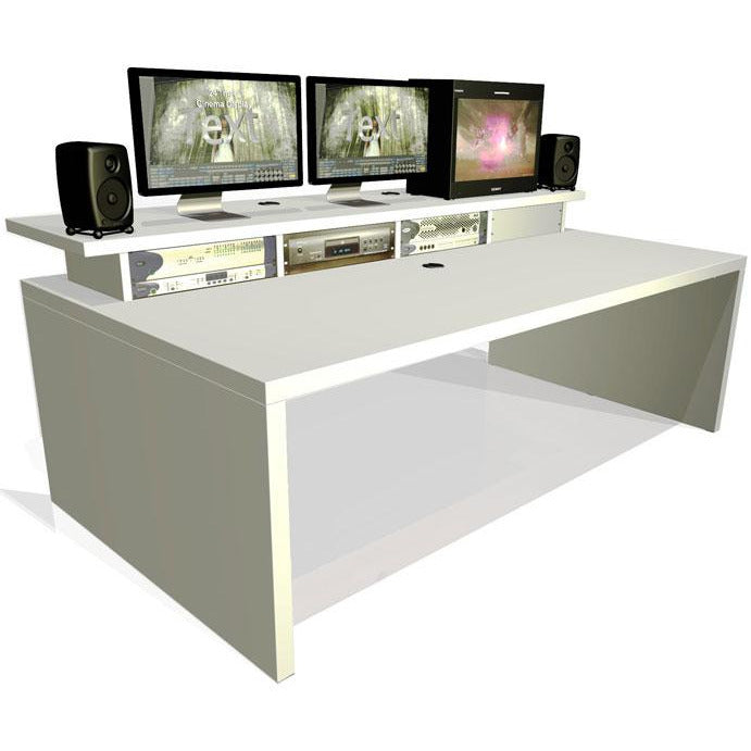 TD Xtra Big Slab - Work station with Top Racks. Available in White & Walnut