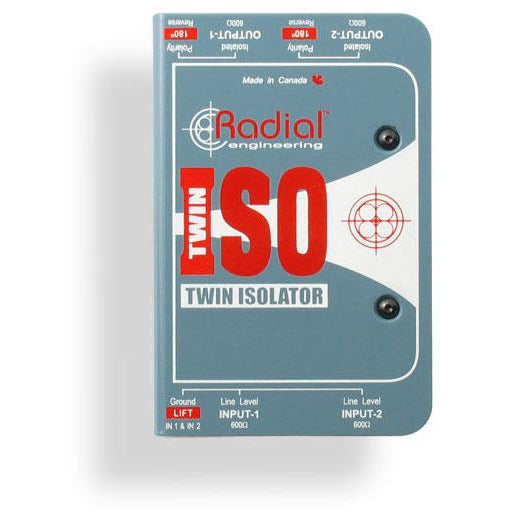 Radial Engineering Twin ISO - 2 Channel Line Isolator with Jensen Transformer