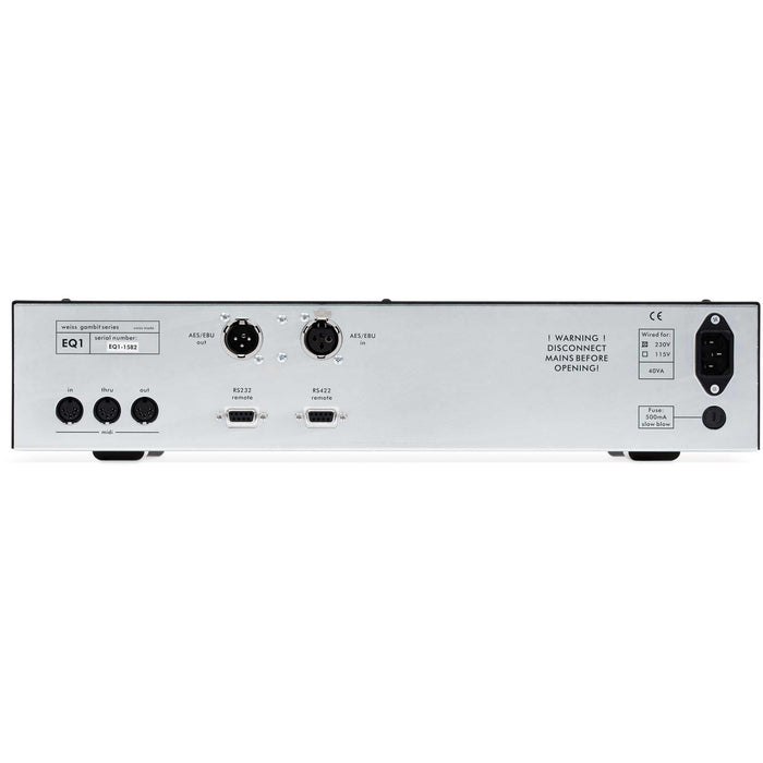 Weiss EQ1-DYN-LP - Linear & Dynamic Phase, 96 kHz, 2-channel, 7-band parametric equalizer