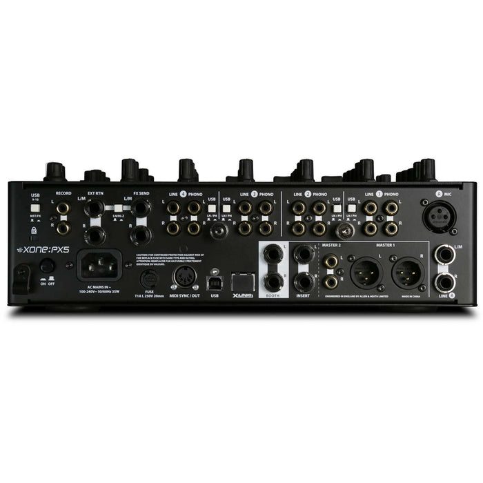 Allen & Heath XONE:PX5  6-channel analogue FX mixer with integral soundcard