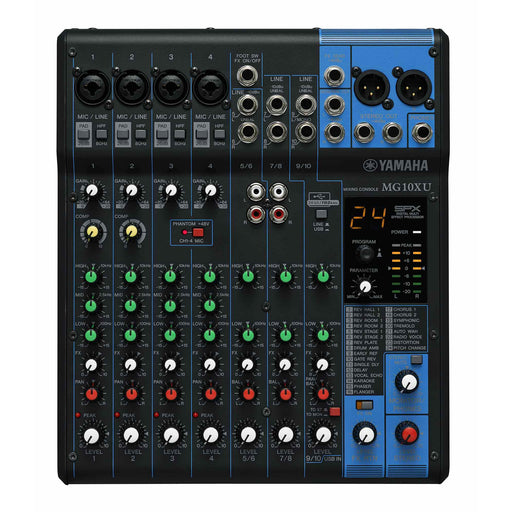Yamaha MG10XU - 10 Channel Compact Mixer with Effects & USB Top
