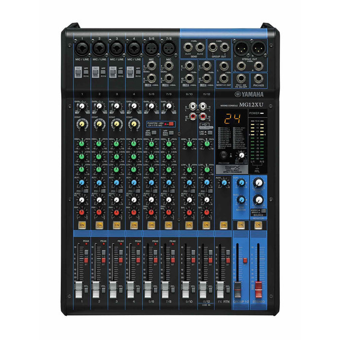 Yamaha MG12XU - 12 Channel Mixer with Effects & USB Top