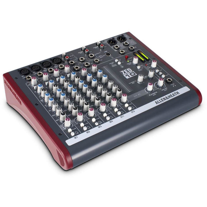 Allen & Heath ZED10 Mixer - 4 Mic Inputs, 2 Stereo Inputs, USB