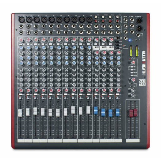Allen & Heath ZED18 Mixer - 10 Mono 4 Stereo with USB and Sonar L.E. Software
