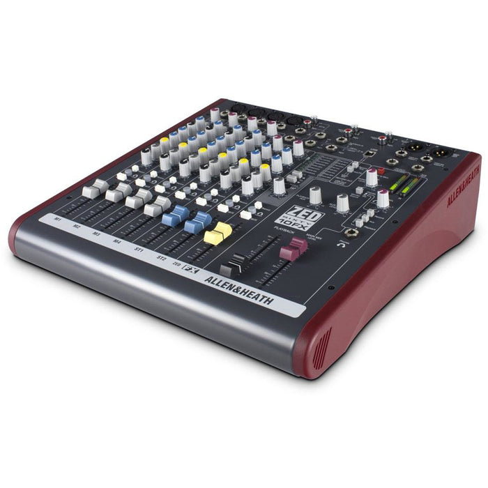 Allen & Heath ZED60-10FX 4 mic/line inputs, 2 stereos, 60mm faders, USB, FX