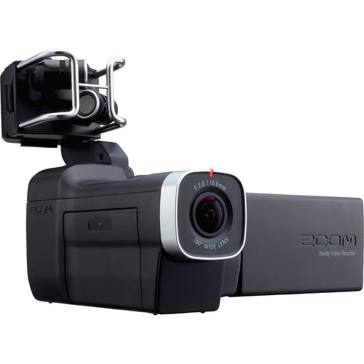 Zoom Q8 - Handheld Video / 4-Track Audio Recorder Front Angle