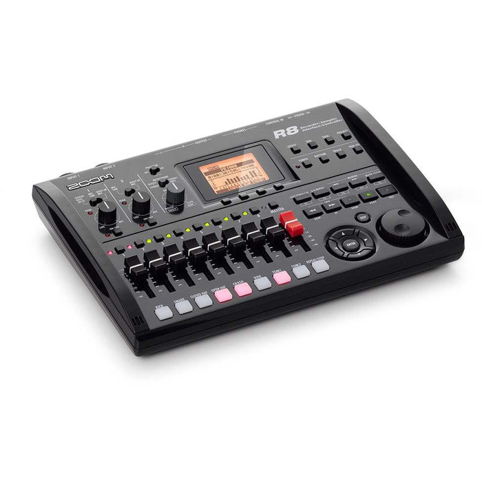 Zoom R8 - Recorder Interface Controller Sampler Front Angle