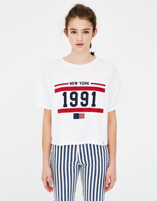 Basic T-shirt with flag