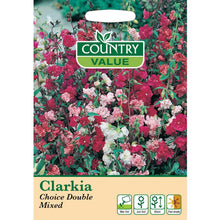 Load image into Gallery viewer, Clarkia Choice Double Mixed Seeds- By Country Value