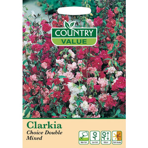 Clarkia Choice Double Mixed Seeds- By Country Value
