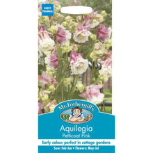 Load image into Gallery viewer, Aquilegia Petticoat Pink Seeds-By Mr Fothergills