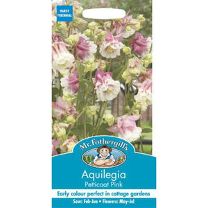 Aquilegia Petticoat Pink Seeds-By Mr Fothergills