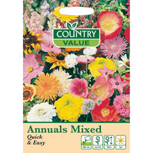 Load image into Gallery viewer, Annuals Mixed Quick & Easy Seeds- By Country Value