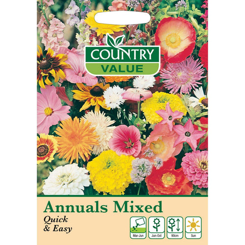 Annuals Mixed Quick & Easy Seeds- By Country Value