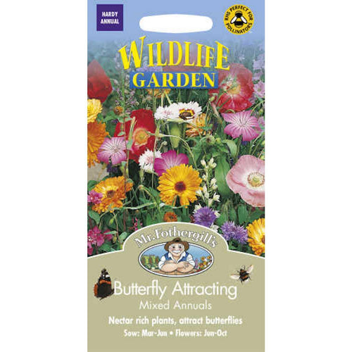 Butterfly Attractive Mixed Annuals Seeds- By Mr Fothergills