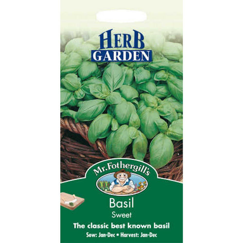 Basil Sweet Genovese Seeds- By Mr Fothergills