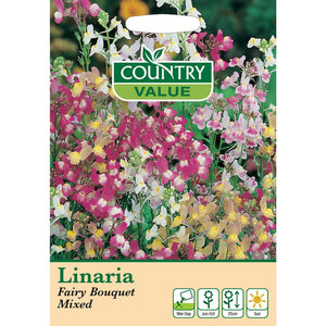 Linaria Fairy Bouquet Mixed Seeds- By Country Value