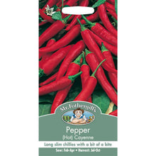 Load image into Gallery viewer, Hot Pepper Cayenne Seeds- By Mr Fothergills - Bells Gardening