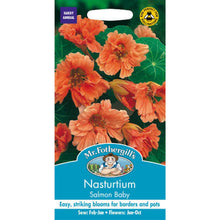 Load image into Gallery viewer, Nasturtium Salmon Baby Seeds- By Mr Fothergills