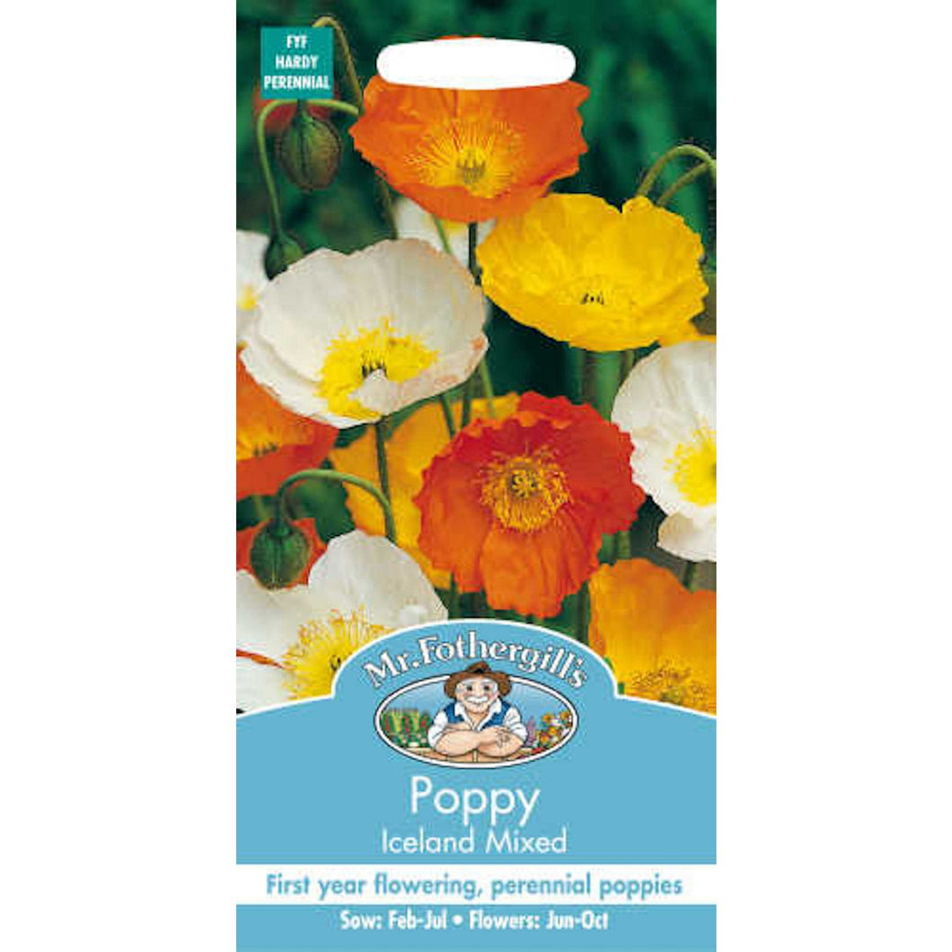 Poppy Iceland Mixed Seeds- By Mr Fothergills