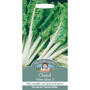 Chard White Silver 2 Seeds- By Mr Fothergills