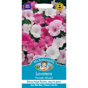 Lavatera Parade Mixed Seeds- By Mr Fothergills - Bells Gardening