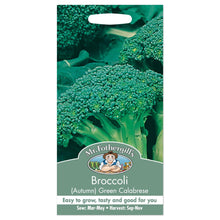 Load image into Gallery viewer, Broccoli Green Calabrese Autumn Seeds- By Mr Fothergills - Bells Gardening
