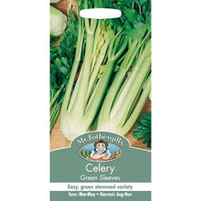 Load image into Gallery viewer, Celery Green Sleeves Seeds- By Mr Fothergills