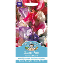 Load image into Gallery viewer, Sweet Pea Incense Mixed Seeds- By Mr Fothergills