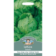 Load image into Gallery viewer, Lettuce Saladin Seeds- By Mr Fothergills - Bells Gardening