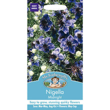 Load image into Gallery viewer, Nigella Midnight Seeds- By Mr fothergills