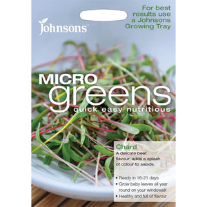 Micro Greens Chard- By Johnsons