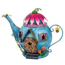Load image into Gallery viewer, Fairy Kingdom Teapot Fairy House By Fountasia - Bells Gardening