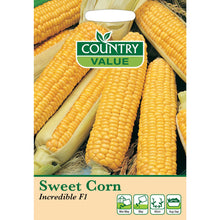 Load image into Gallery viewer, Sweetcorn Incredible F1 Seeds- By Country Value
