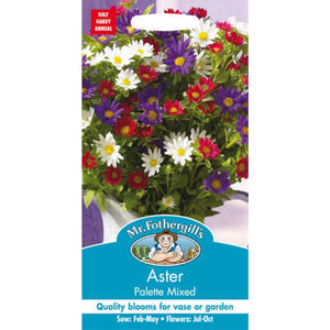 Aster Palette Mixed Seeds- By Mr Fothegills