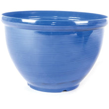 Load image into Gallery viewer, Plastic Light Weight Feather Glazed  Plant Pot -By Woodlodge Blue