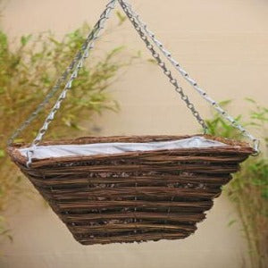 Reed and Seagrass Premium 14'' Square Hanging Basket
