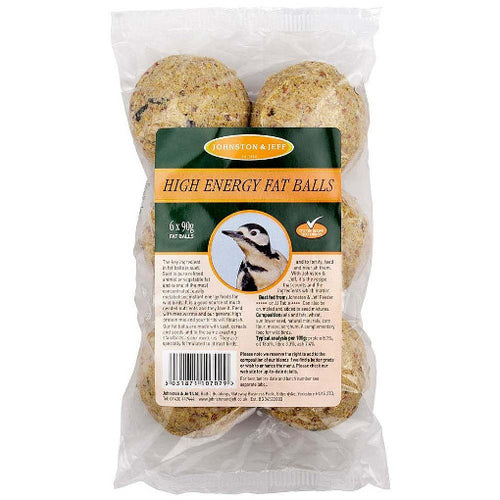 Johnston and Jeff High Energy Fat Balls- Pack of 6 - 90g - Bells Gardening