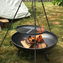 Load image into Gallery viewer, Tripod Cooking Rack With Long Legs - Made By Firepits UK - Quality British Manufactured