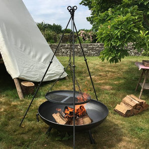 Tripod Cooking Rack With Long Legs - Made By Firepits UK - Quality British Manufactured