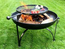Load image into Gallery viewer, Plain Jane with Swing Arm BBQ Rack Fire Pit