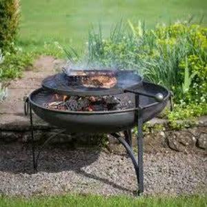 Plain Jane with Swing Arm BBQ Rack Fire Pit