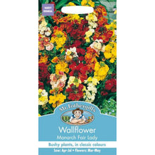 Load image into Gallery viewer, Wallflower Monarch Fair Lady Seeds- By Mr Fothergills