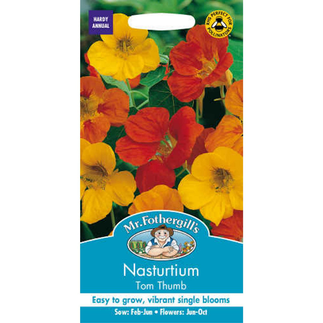 Nasturtium Tom Thumb Seeds- By Mr Fothergill
